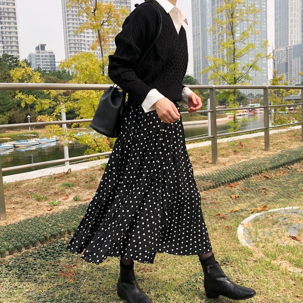 Feeling long skirt
