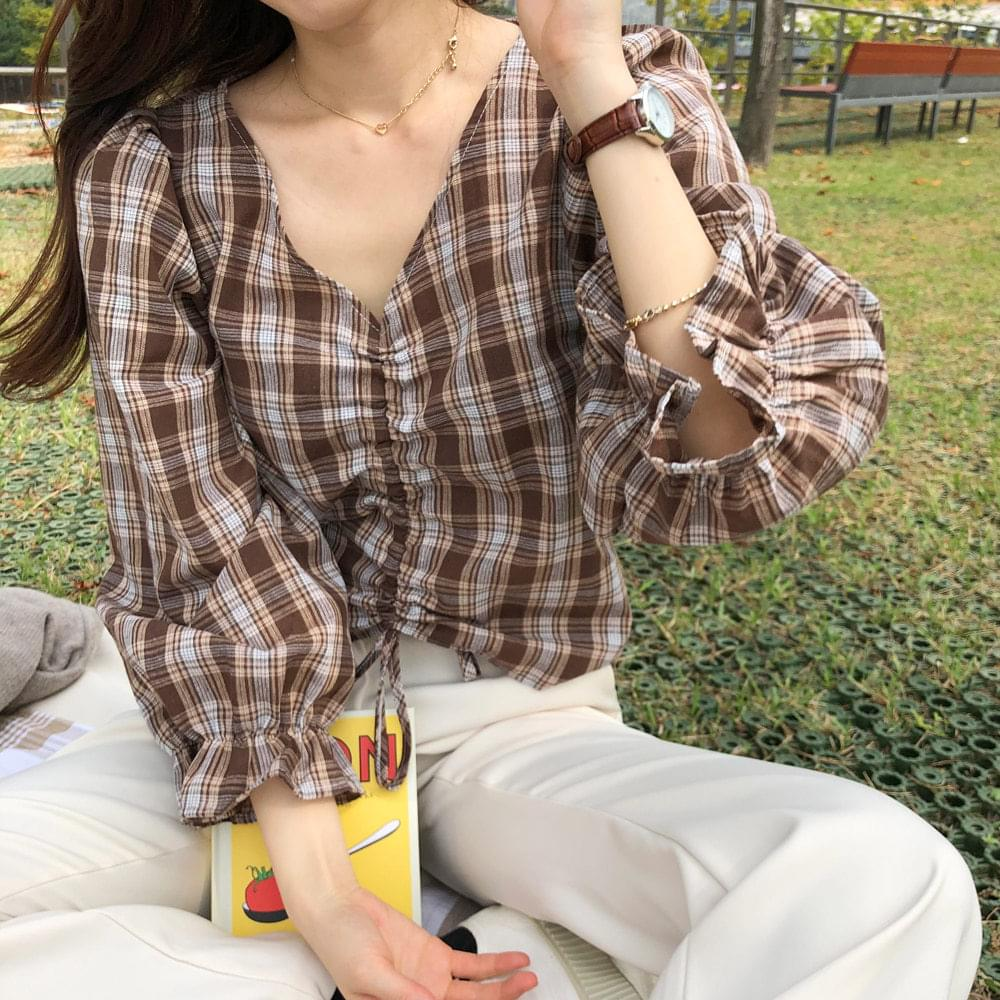 Butter Checking Blouse