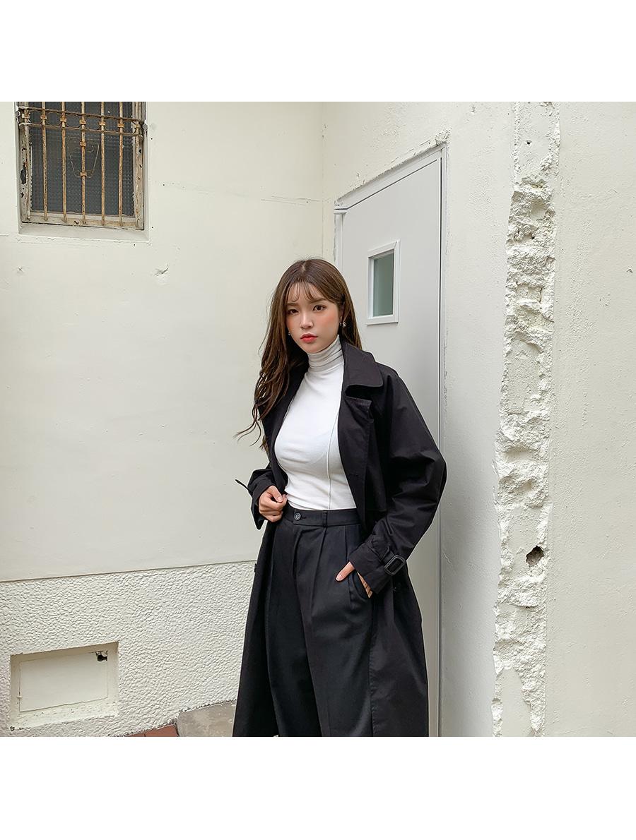 Trendy Strap Trench Coat