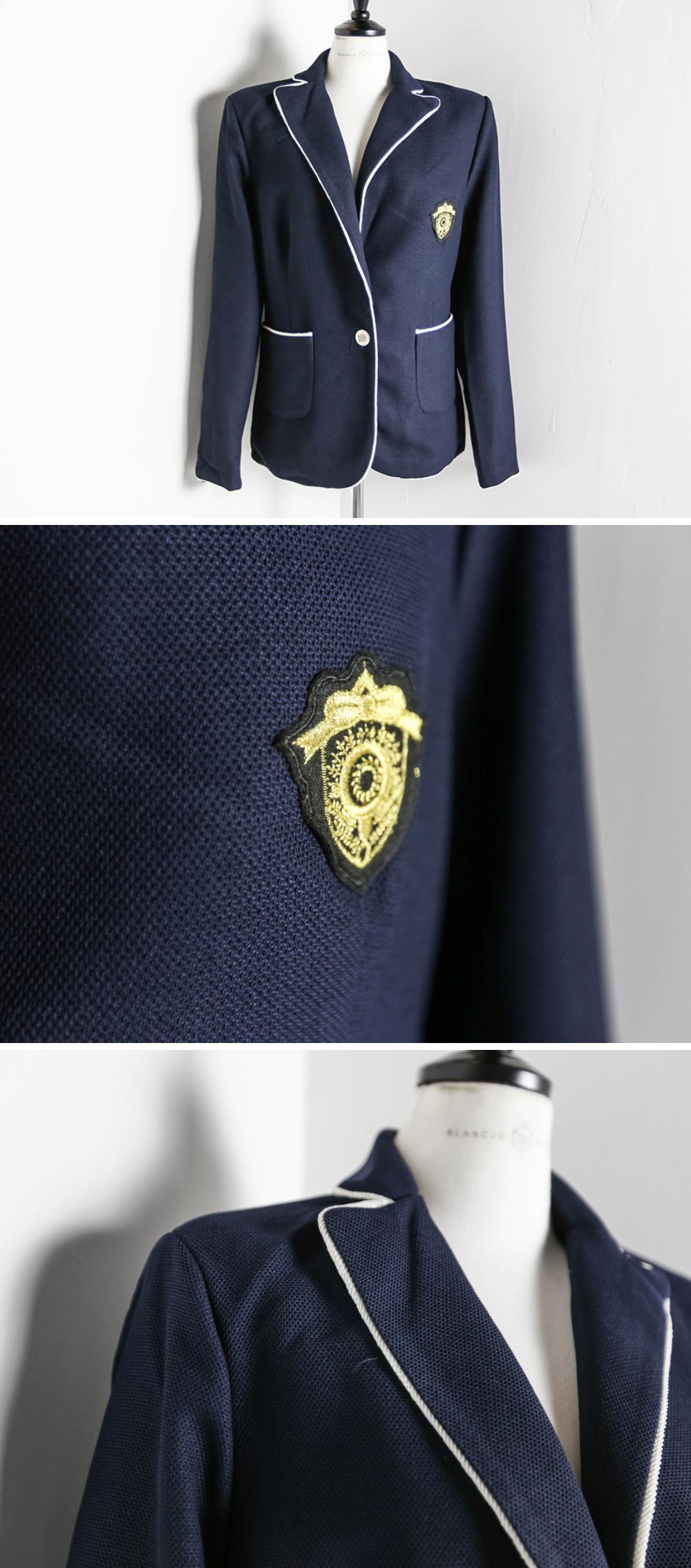Navy Piping Line Wafan Jacket_JK03376