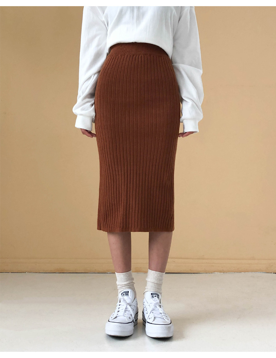 Simple knit skirt