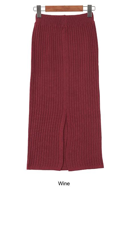 Simple knit skirt