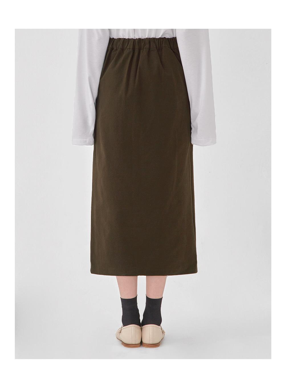 from cotton midi skirt