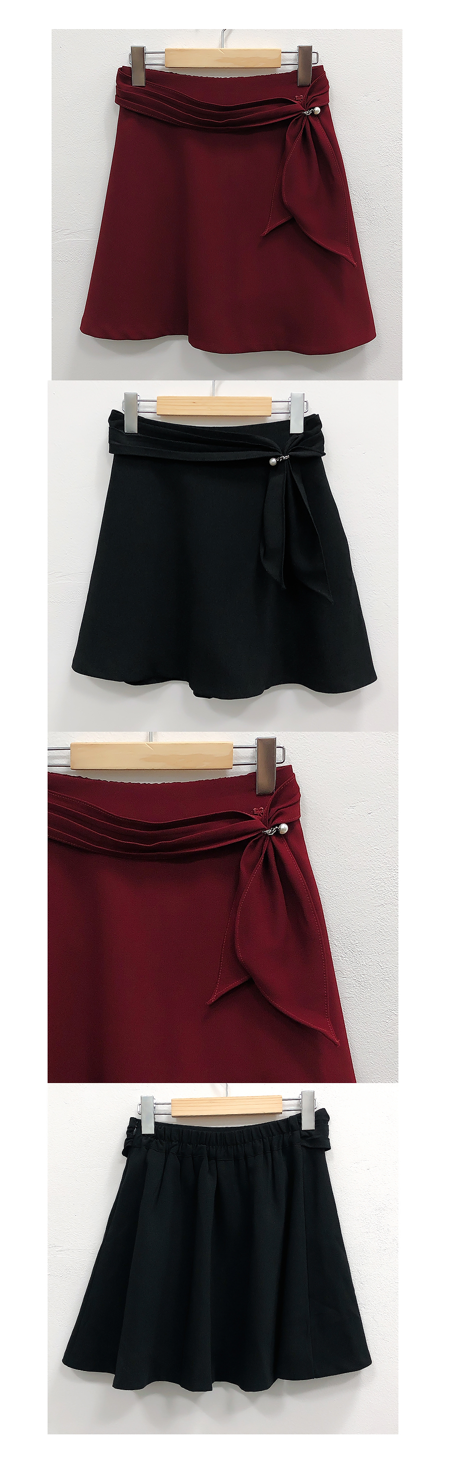Pearl ring hull skirt pants