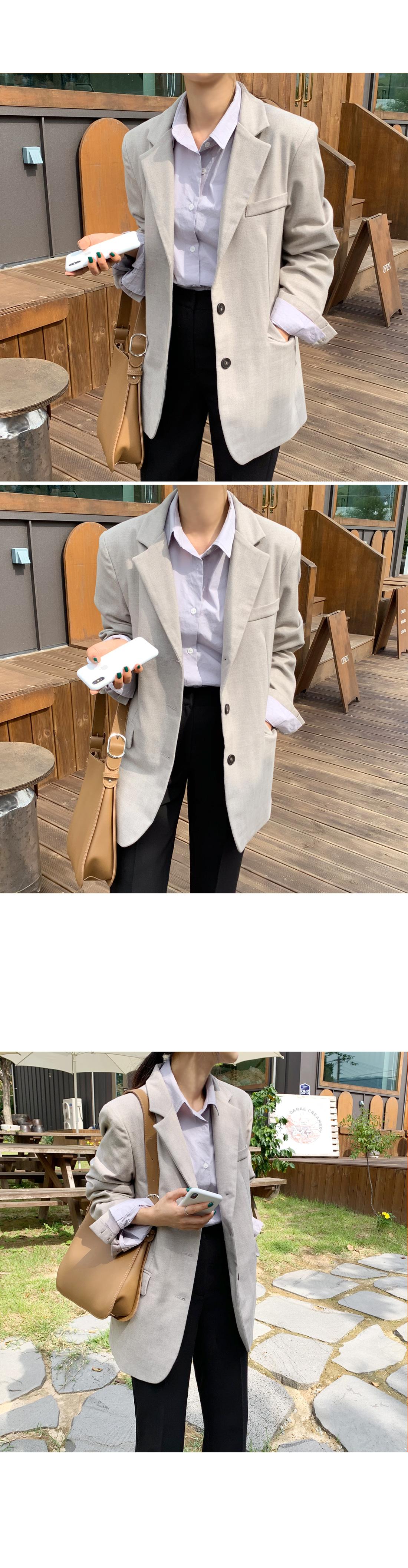 Royal herringbone single jacket