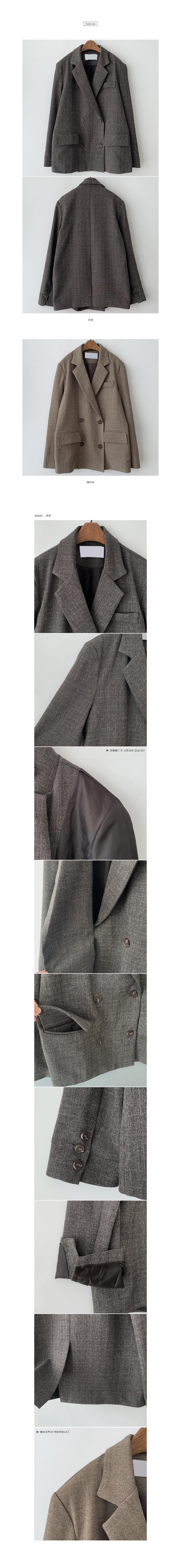 Solde Check Double Jacket