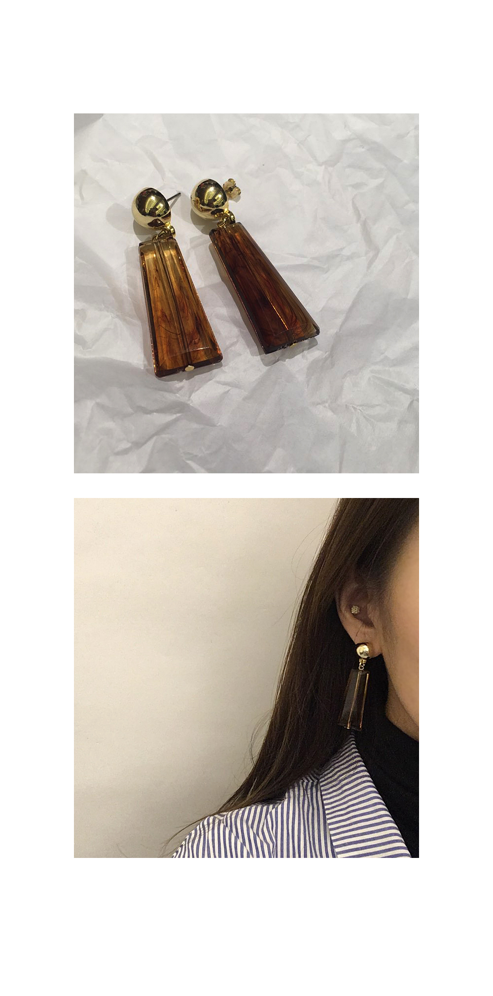 formica gold earring