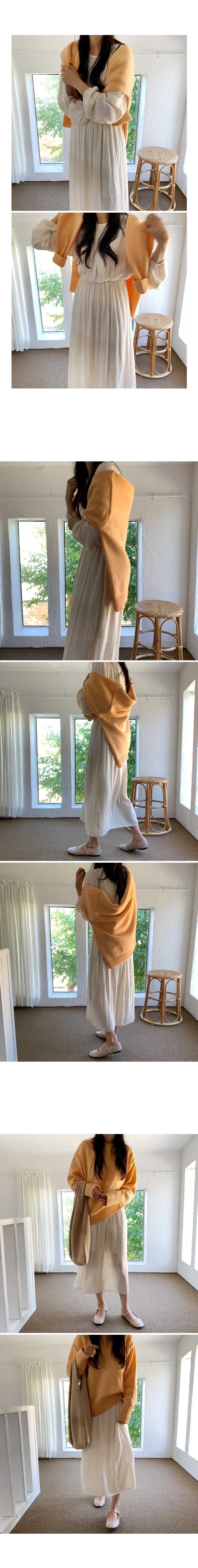 Gift Shirring Long Dress