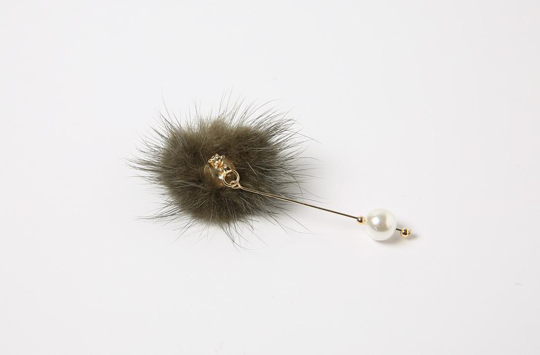 Mink earrings