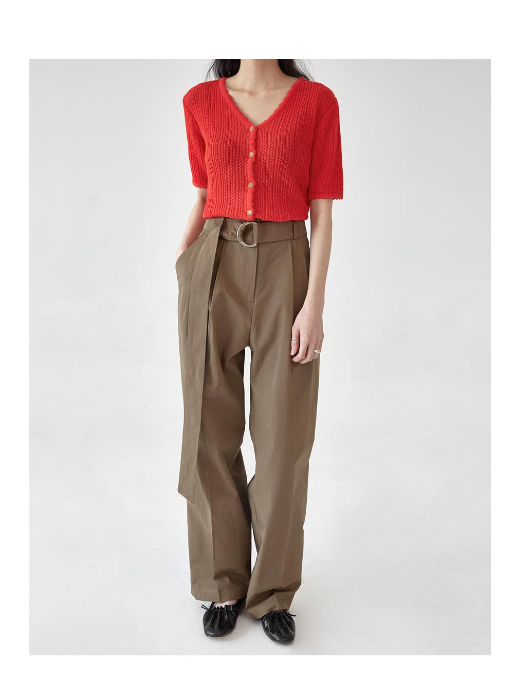 wonder D-ring wide linen pants