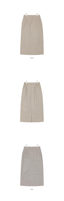 road check skirt