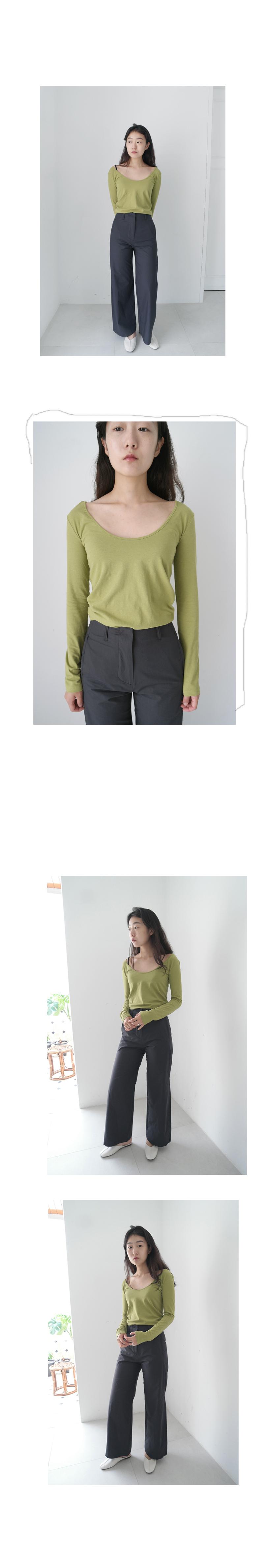 simple semi bell pants