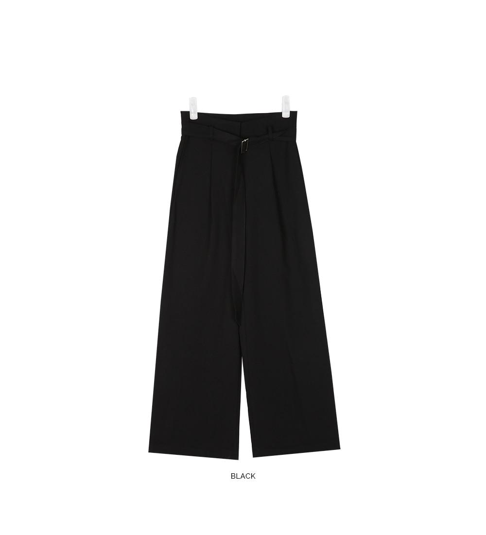 say belted wide slacks (s, m)