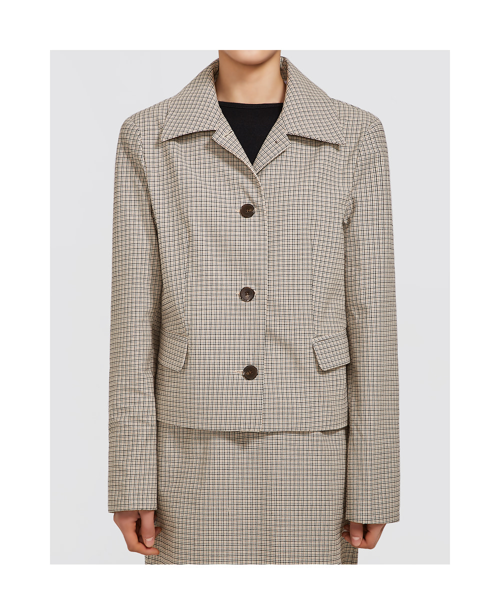 roomy check jacket