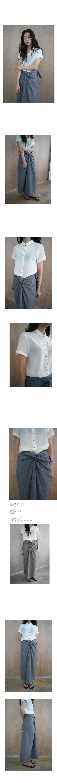 see-through roll-up shirt