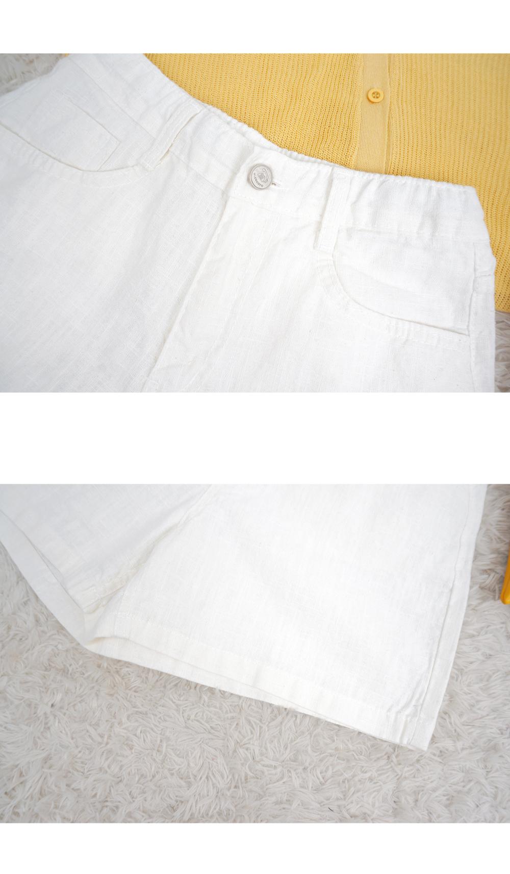 Lundy Linen Short P # Hidden Band