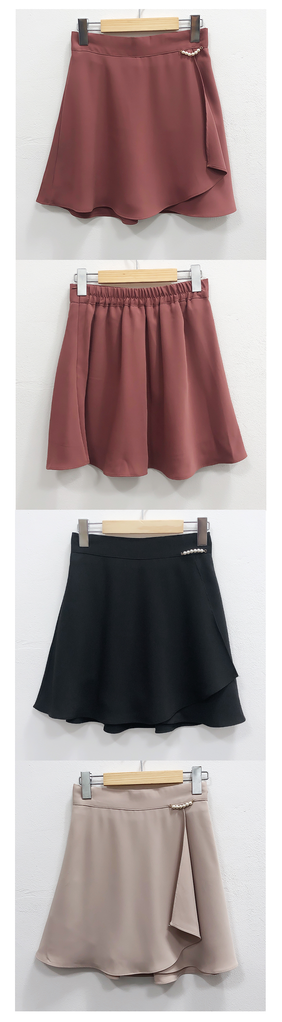 Pearl flared skirt pants