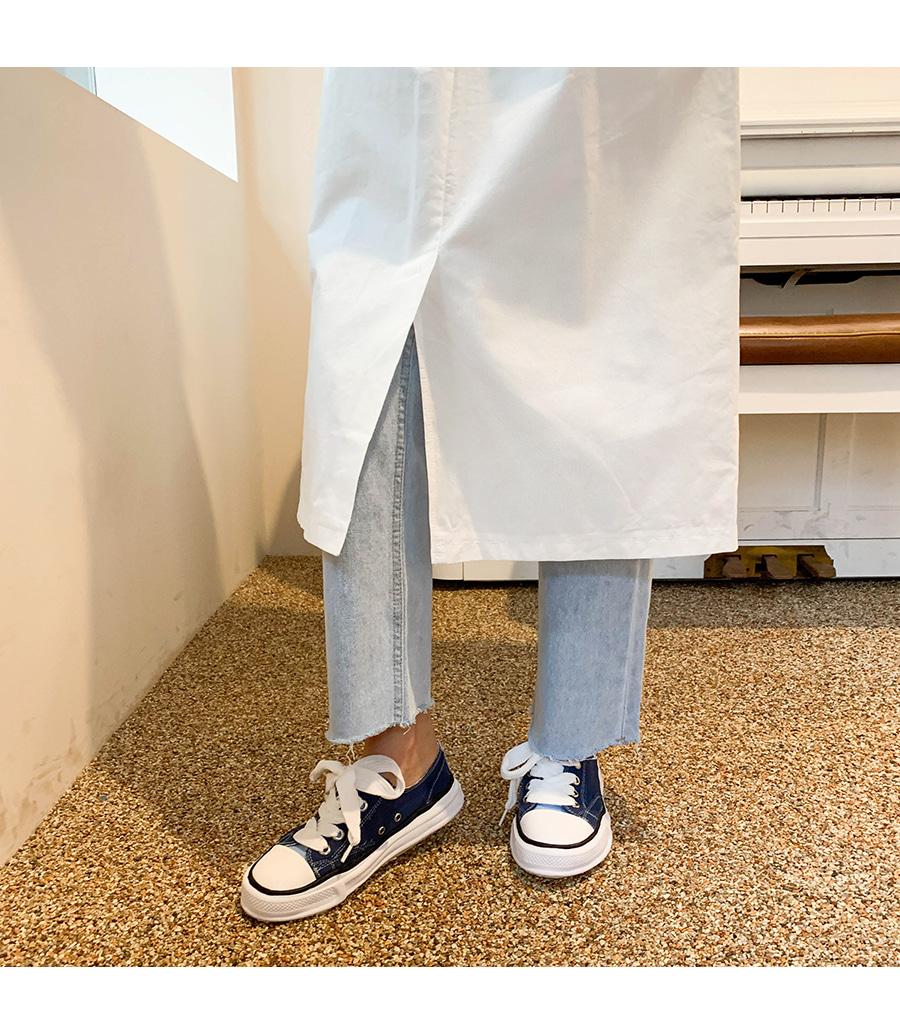 Semi-boots hem cutting pants