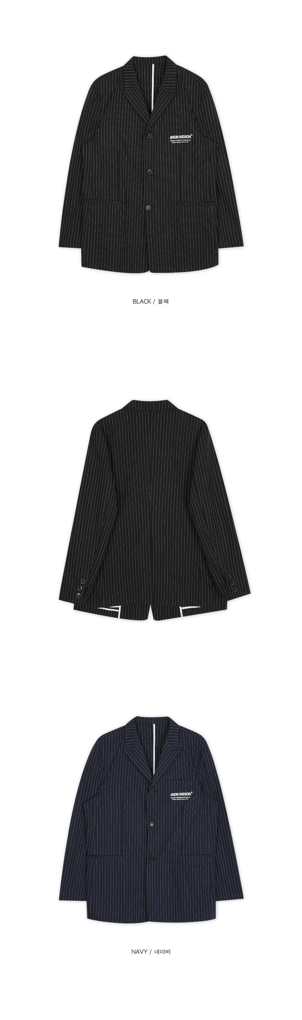JASONHUDSON stripe linen jacket (2 color) - men