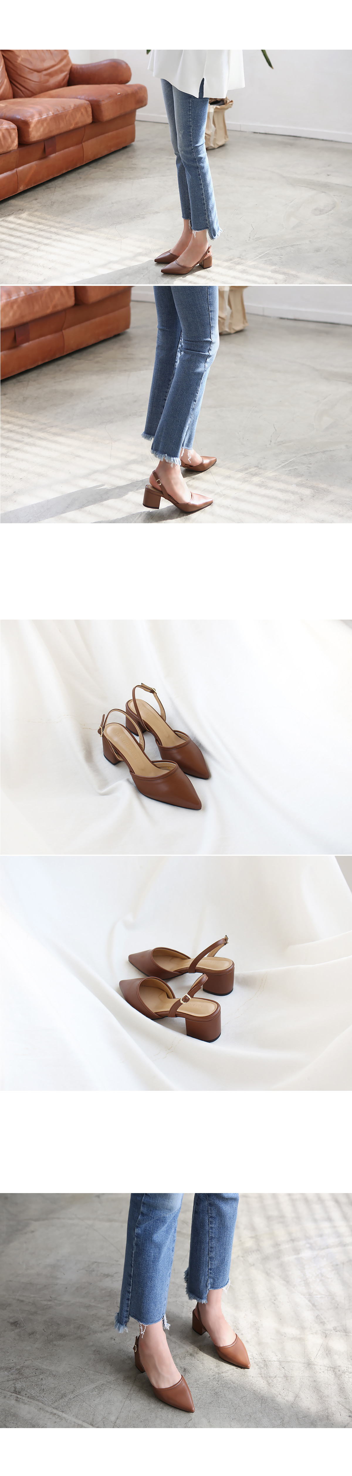 Stiletto Slingback Middle Hill