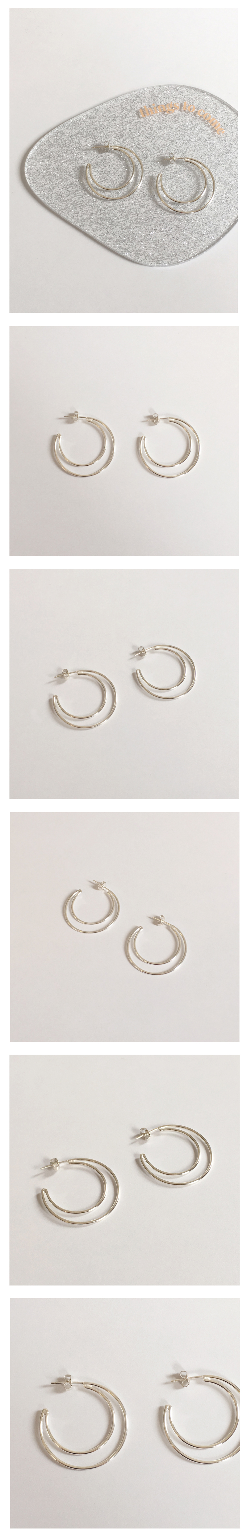 (silver925) new moon earring