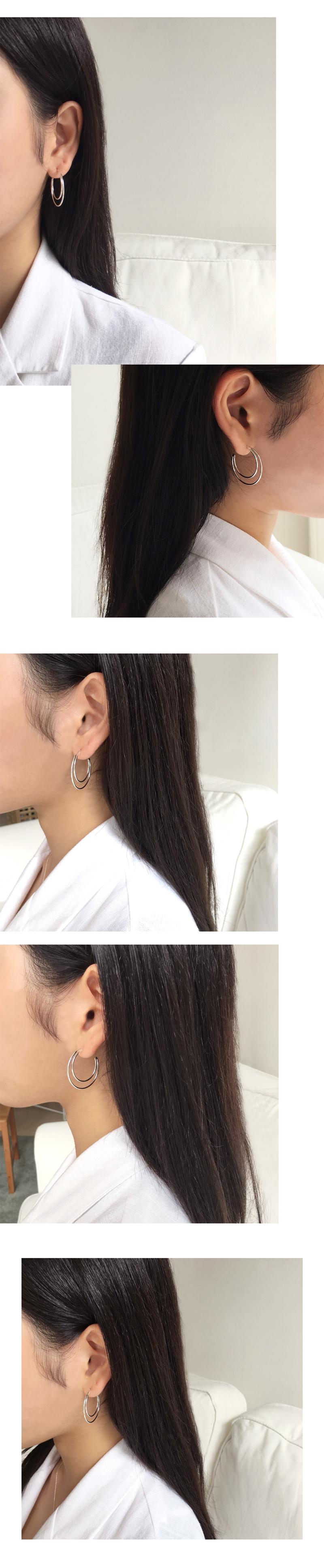 new moon earring