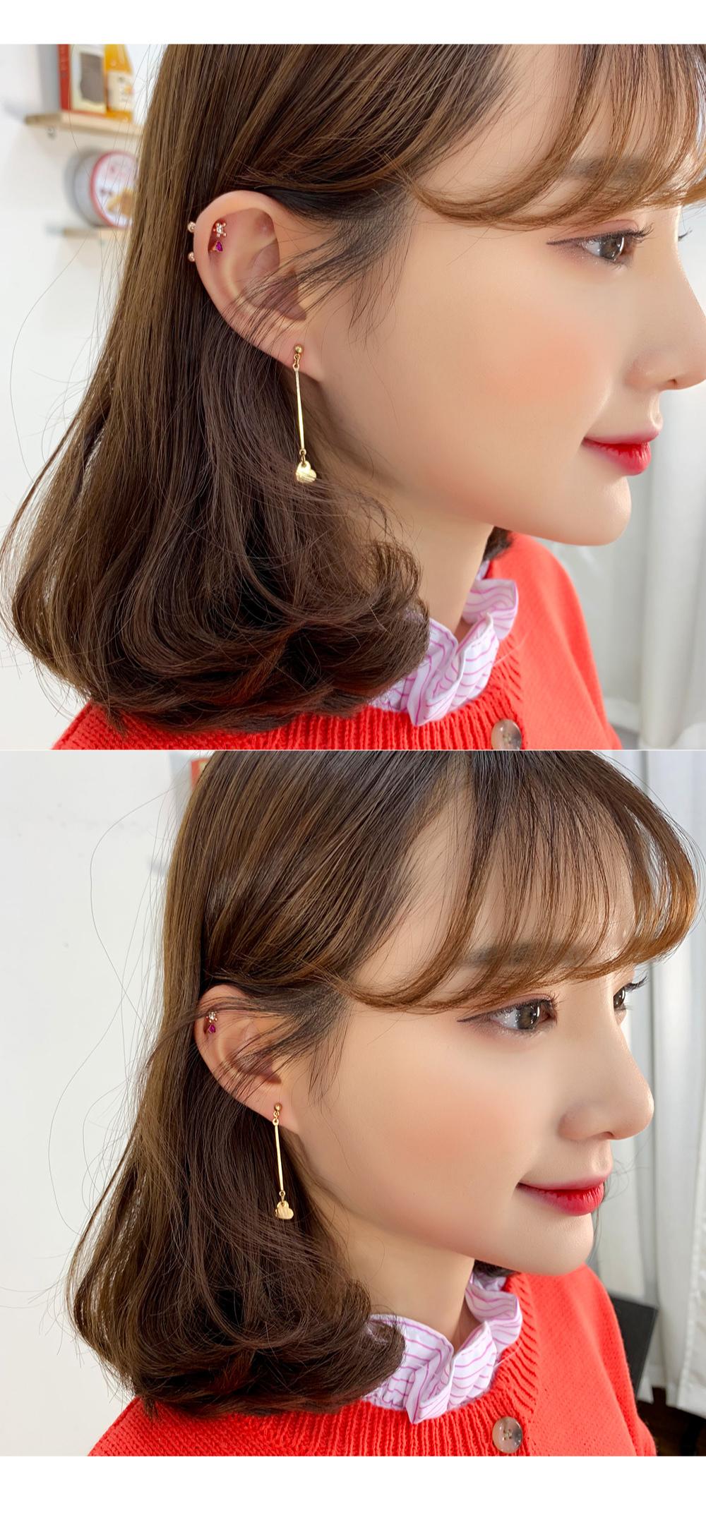 Shiny Heart Shaped Earrings