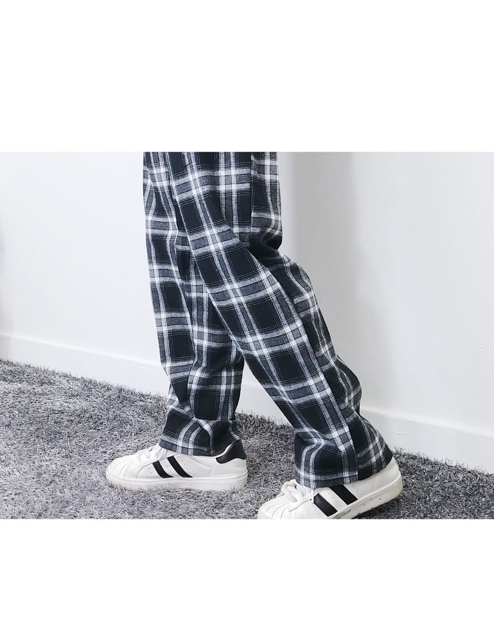 Lucas Bending Square Check Pants