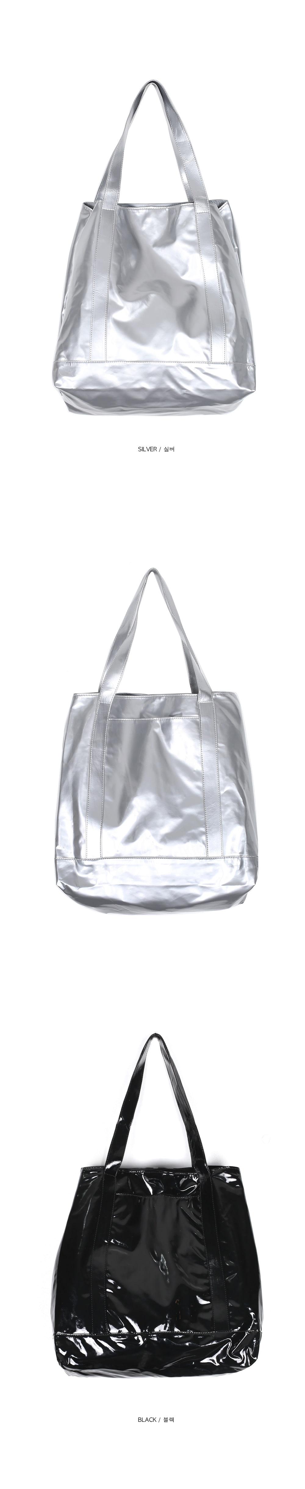 glossy big shopper bag (2 color)