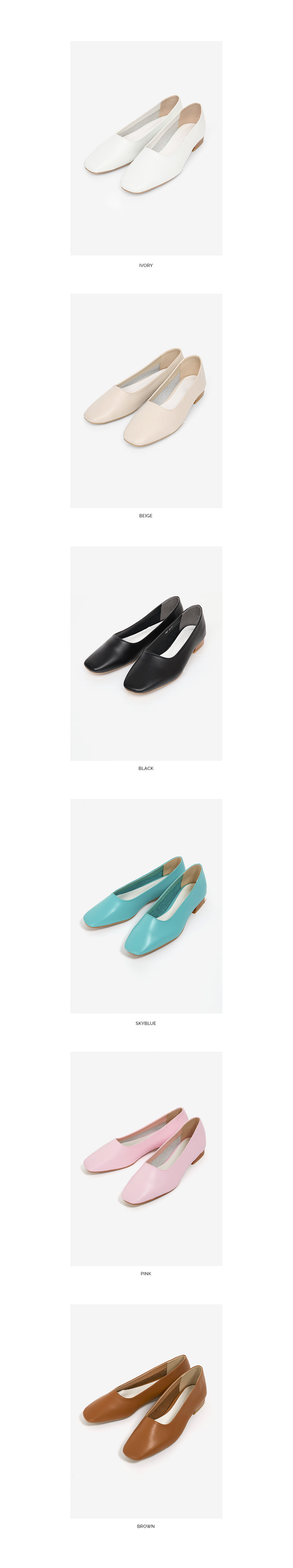 wooden trendy flat shoes (3 colors)