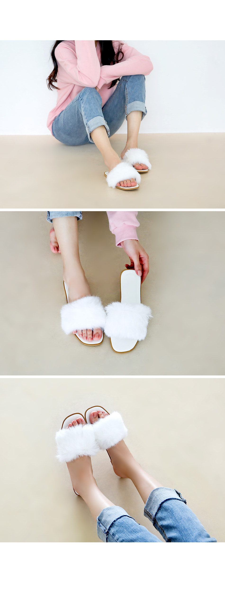 Tolia Fur Slippers 1cm