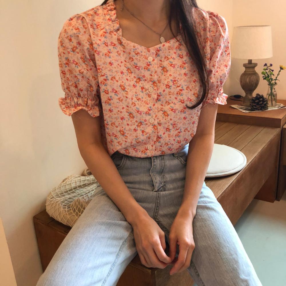 Romantic pink blouse