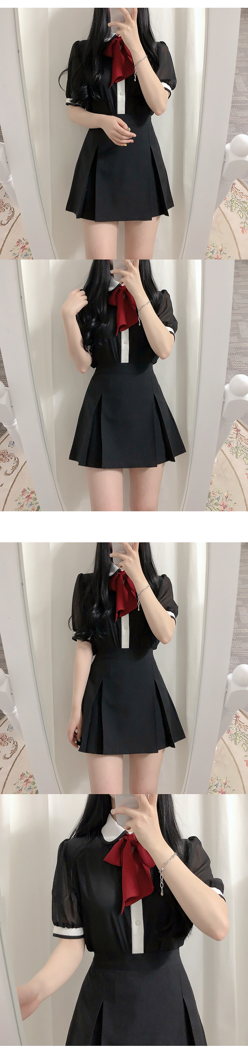 Self-made, same day shipping ♥ See-through color blouse