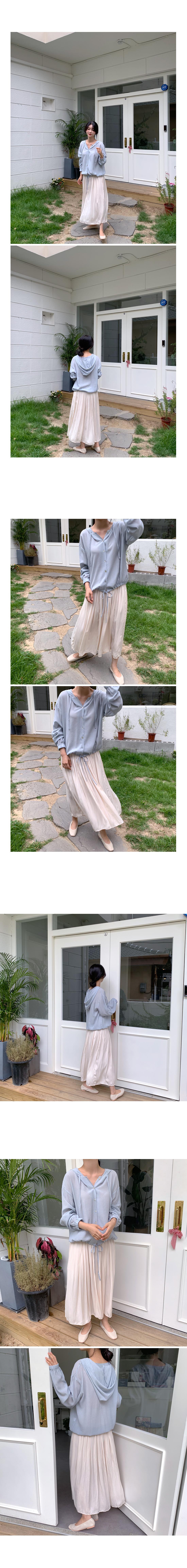 Cheese Ruffle Long Skirt