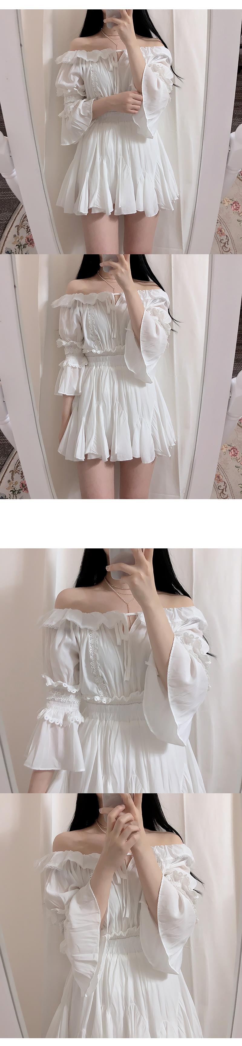 ♥ Miho Lace bl + flare mini sk