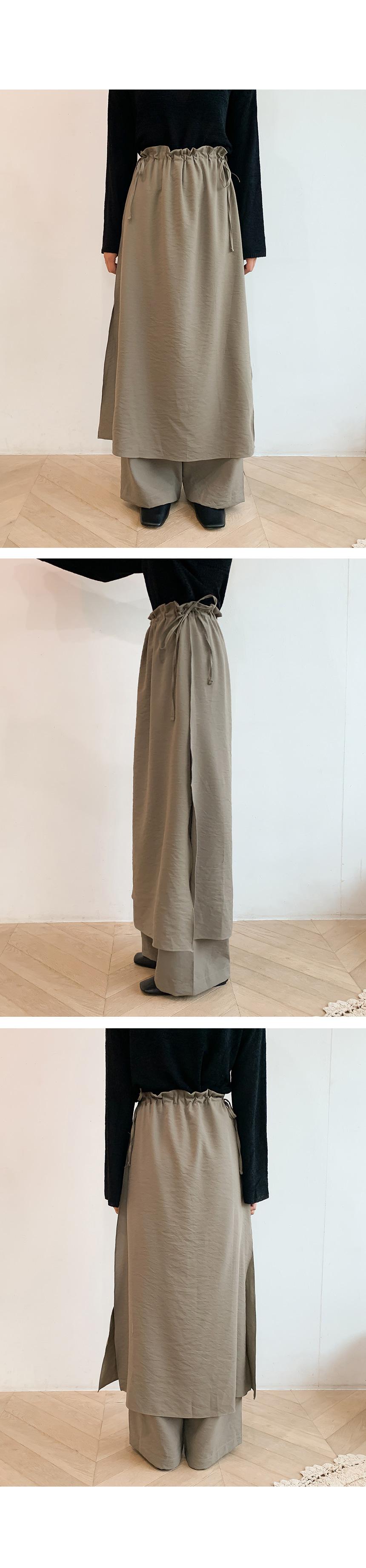 Strap Skirt Pants