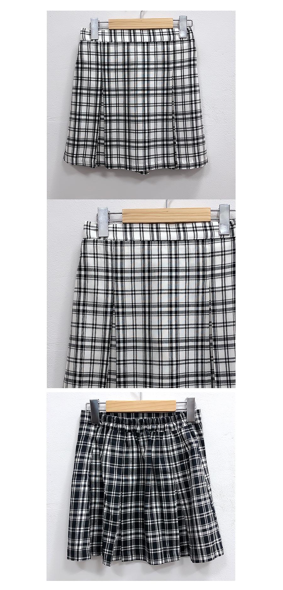 Cuanc Check Miniskirt