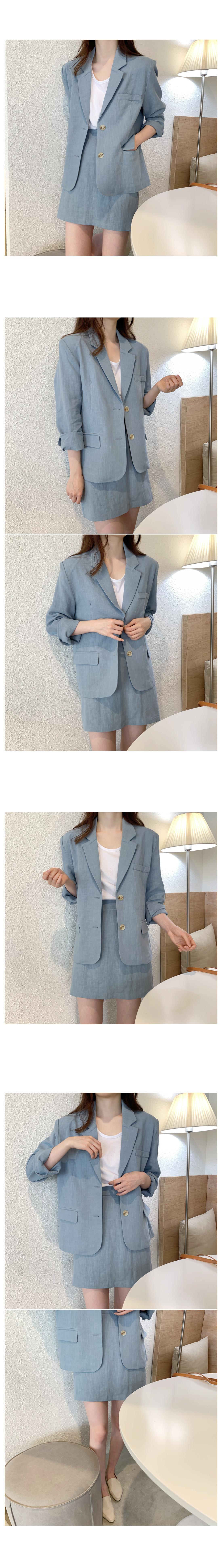Bishop Linen Single Jacket