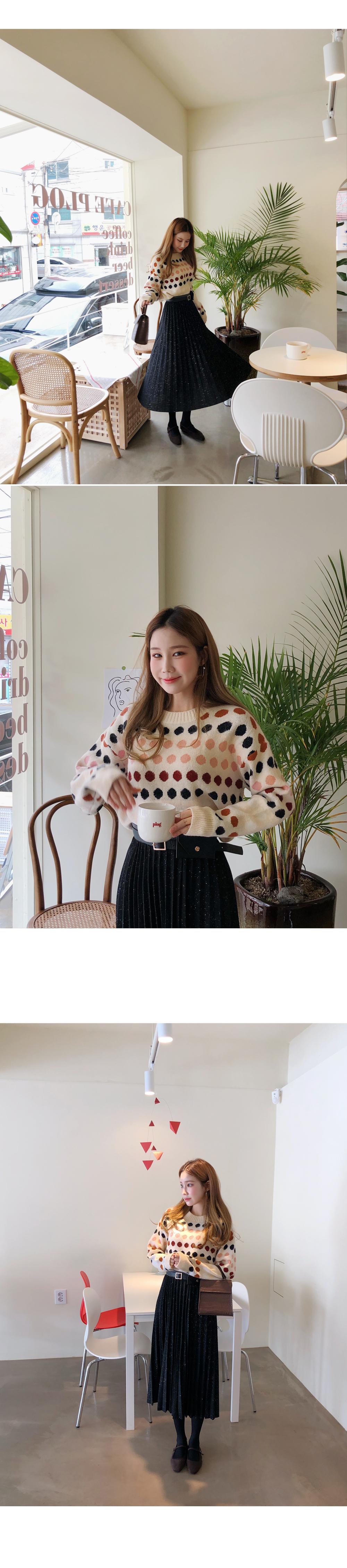 Cute Dot Knit