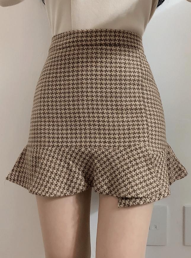 Paris Check Unfried Skirt