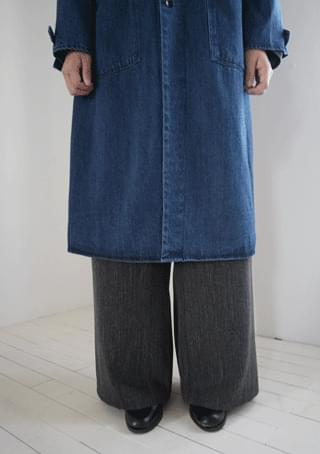melange wide fit slacks