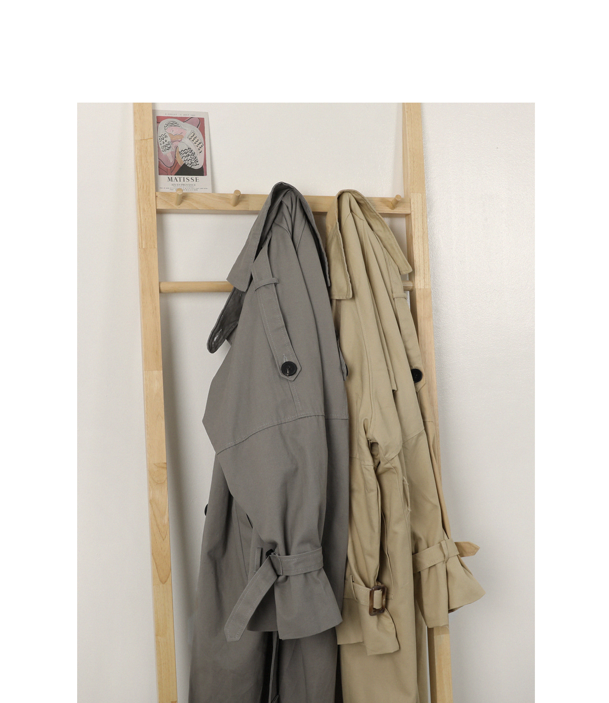 Knot trench coat