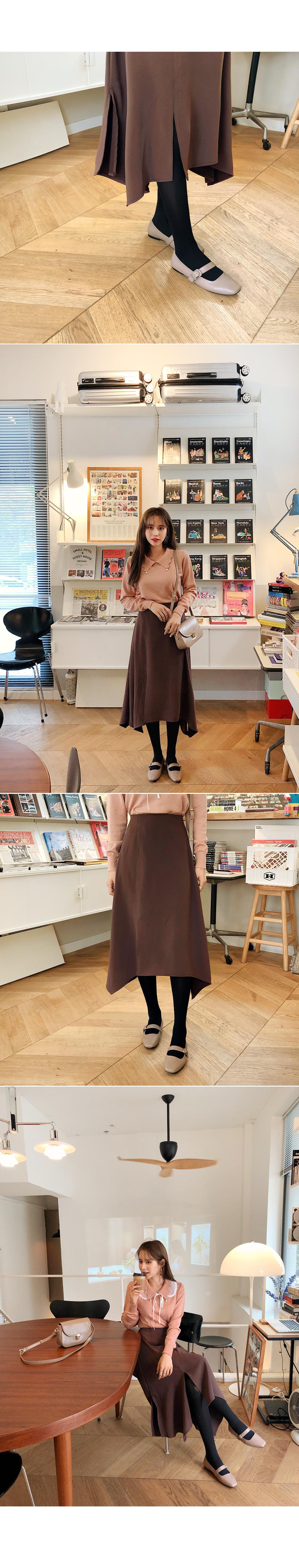 Romantic trimmed skirt