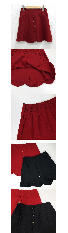 Unique wave skirt pants