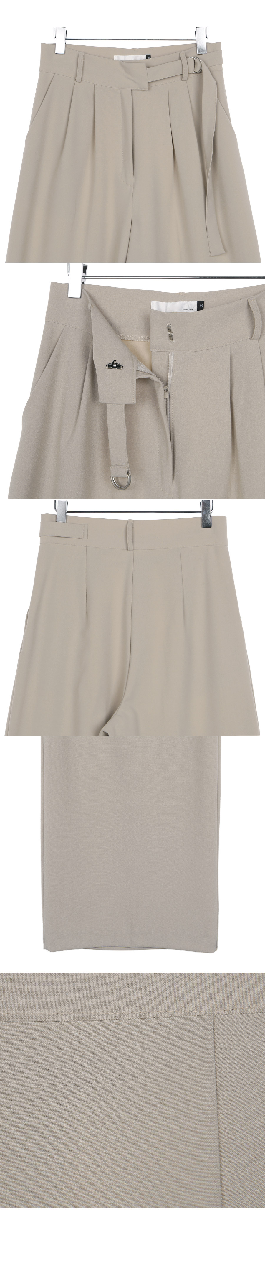 Ring wide pants beige s
