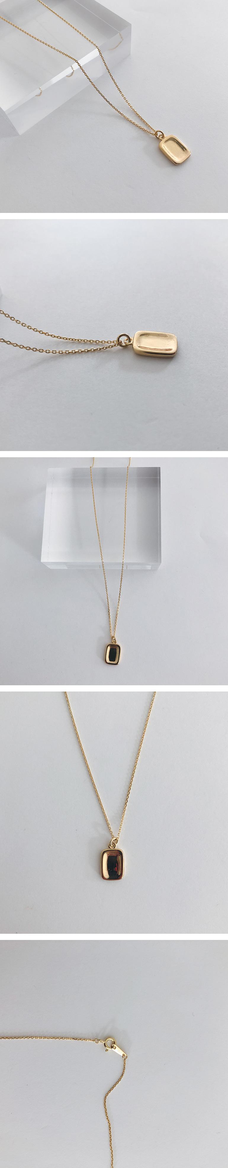 (silver925) vintage square necklace