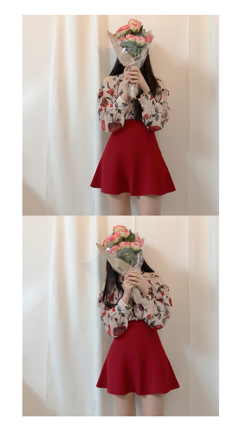 Self Made ♥ Human Rose Holter blouse