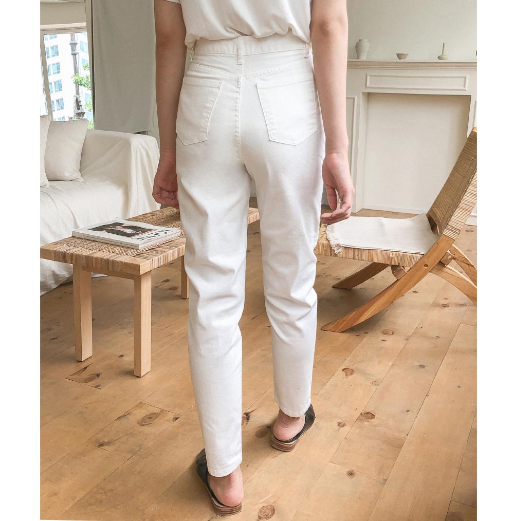 Slim Straight Fit Cotton Pants-pt