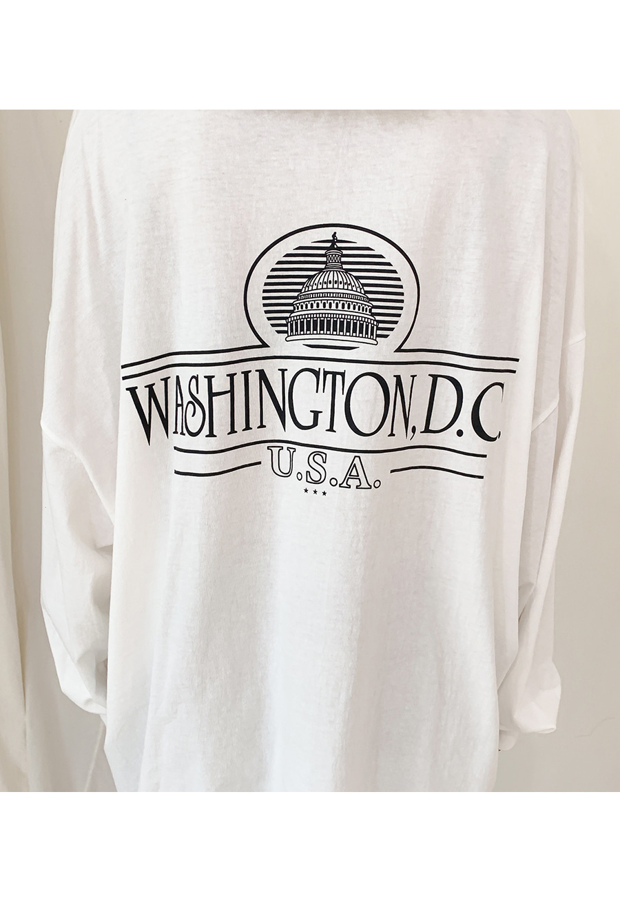 Lettering trim over fit T-shirt