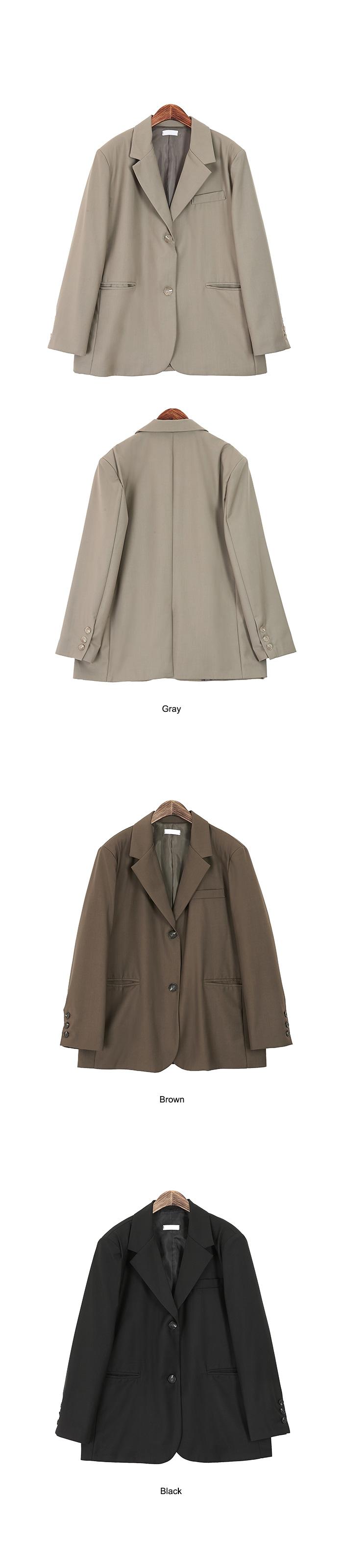 Two-button boxy jacket